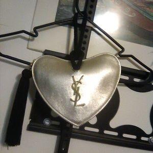 Authentic YSL Designer Mini Coeur Monogram Leather